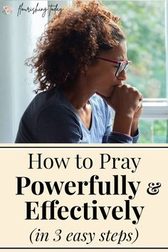 Do you struggle with how to pray to God? Praying doesn't have to be hard. Here are a few tips for beginners on how to pray powerfully and effectively every day. #pray #prayer #praying