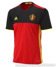 6ac7f1e8375f9 Belgium EURO 2016 Home Kit Casacas De Futbol