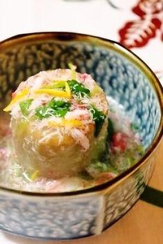 京芋(海老芋)のカニあんかけ