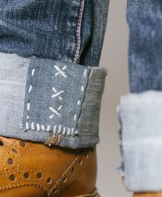SASHIKO DENIM by Pey Handstitched denim repair art Enjoy the art of imperfection (Respect the source)