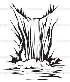 Waterfall - Stock Illustration: 22451305