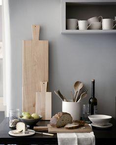 Kitchen idea from @PinPoggenpohl  #wood #grey #kitchenware #tools