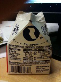 lunch room milk > Everyday!!!