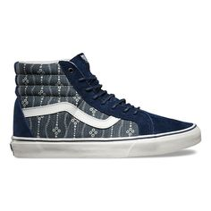 Vans - Sk8 Hi Reissue - Shibori | Mens Shoes | Mood Indigo / Blanc De