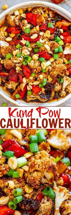 Kung Pao Cauliflower - Averie Cooks