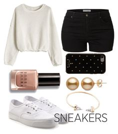 """""""Untitled #26"""" by tiffany-duque on Polyvore featuring Vans, LE3NO, Kate Spade and Bobbi Brown Cosmetics"""