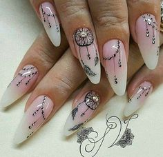 Here is Dream Catcher Nail Designs Gallery for you. Dream Catcher Nail Designs 33 ideas with dream catcher nail art my sty. Cute Nails, Pretty Nails, My Nails, Nails Inc, Perfect Nails, Gorgeous Nails, Dream Catcher Nails, Floral Nail Art, Feather Nail Art