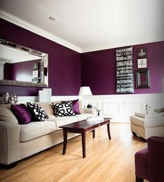 Colors for bedroom purple modern classic