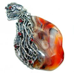Great quality genuine Botswana Agate .925 Sterling Silver handmade Pendant Jewelry Design, Unique Jewelry, Silver Pendants, Handmade Silver, 1 Piece, Pendant Jewelry, Agate, Gemstones, Sterling Silver