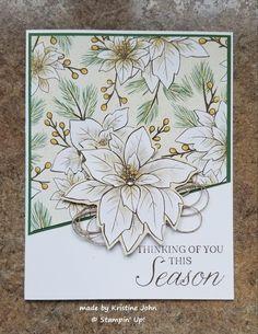 Christmas Poinsettia, Stampin Up Christmas, Christmas Cards To Make, Christmas Tag, Holiday Cards, Xmas, Poinsettia Cards, Christmas Catalogs, Winter Cards