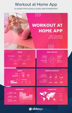 Attract potential investors and customers for your new app by editing this free Google Slides theme and PowerPoint presentation template. . #Slidesgo #FreepikCompany #freepresentation #freetemplate #presentations #themes #templates #GoogleSlides #PowerPoint #GoogleSlidesThemes #PowerPointTemplate #Workout #AtHome #StayAtHome Good Cv, Android App Design, Graphic Design Templates, Slide Design, Business Networking, Creative Resume, Business Presentation, Powerpoint Presentation Templates, At Home Workouts