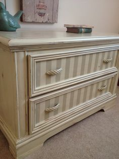 SALEChic Cream Dresser Chest French Country by FurnitureAlchemy, $240.00