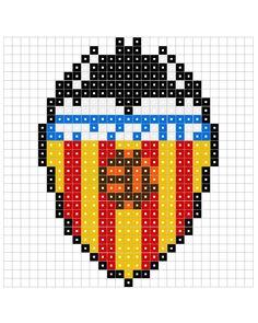 Bead Embroidery Patterns, Beaded Embroidery, Beading Patterns, Plastic Bead Crafts, Plastic Beads, Motifs Perler, Perler Patterns, Pixel Art Logo, Image Pixel Art