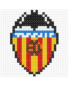 pl-valencia1.jpg (1280×1600) - patrón escudo Valencia para hama beads