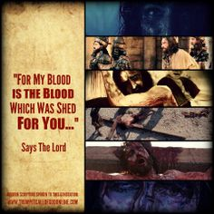 """For My blood is the blood which was shed for you, to place upon your door so you may be spared, delivering you from the power of death. For as it is written in the Law, all things are purified with blood, and without the shedding of blood there can be no remission of sin. And no one goes to The Father, unless they eat of the flesh of The Lamb and drink His blood.""  http://trumpetcallofgodonline.com/index.php5?title=I_Am_The_Passover_and_The_Lamb%2C_The_New_Covenant_with_Men"