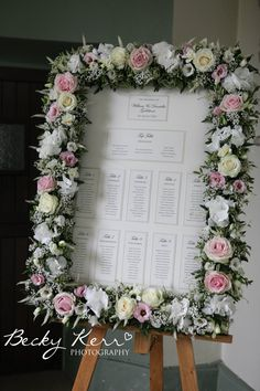 Flower frame - Created by Wild Orchid for Woburn Sculpture Gallery wedding