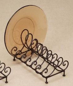"""Baldwin Metal 6 Place Plate Holder for 8""""-11"""" Dia Plates - contemporary - dish racks - other metro - Sunrise Image Gifts"""