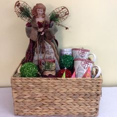 Custom Christmas basket created and sold by Ambiance Innovative Event Planning  www.planwithambiance.com