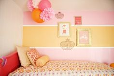 Orange and Pink Shared Girls Room