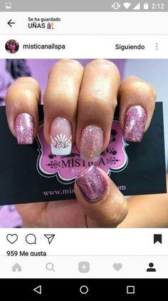 65 Best Ideas For Manicure Mandalas Sencillas Glitter French Manicure, Fall Manicure, Manicure Colors, Wedding Manicure, French Manicure Designs, Spring Nails, Glitter Nails, Summer Nails, Nail Colors