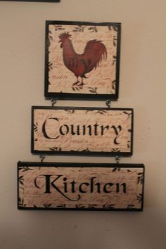 : rooster and chicken kitchen decor Rooster Kitchen Decor, Rooster Decor, Primitive Kitchen, Country Kitchen, Kitchen Black, Primitive Country, Primitive Crafts, Big Chill, Country Decor