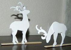 FREE printable paper reindeer templates ! / Effiloché noeud de laura