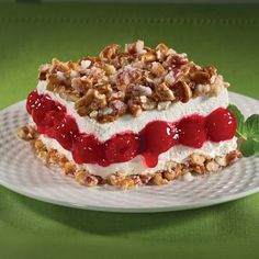 Yum! Check out the Cherry Pretzel Squares from Lucky Leaf. I'm going to try it, and you should too!