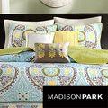 Mizone Mackenzie Yellow/Grey Patterned Polyester 4-piece Quilt Set   Overstock.com