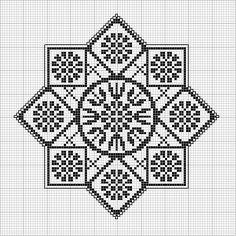 Schema punto croce Motivo Mandala