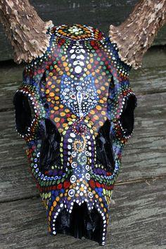 Animal Skull Painting by Veronica Jones, via Behance
