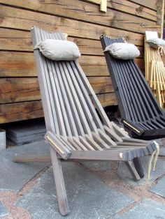 Ekotuoli Wooden Garden Chairs, Deck Chairs, Outdoor Chairs, Outdoor Furniture, Outdoor Decor, Furniture Ideas, Cottage Living Rooms, Garden Living, Nordic Chic
