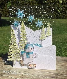 It's Heartfelt Wednesday! Here is the card I made this week. I had fun making a snowy scene and making an acetate card! The idea was...