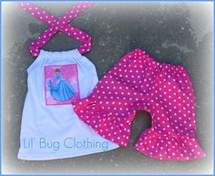 Custom Boutique Disney  Pink Dots Cinderella or by LilBugsClothing, $27.50