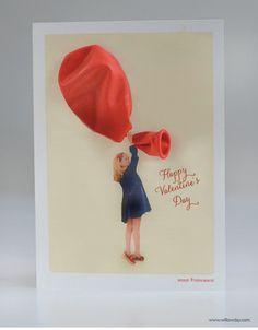 DIY 3-D Balloon Valentine Cards