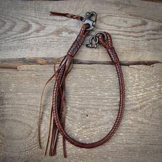 Kangaroo Leather Braided Wallet lanyard.