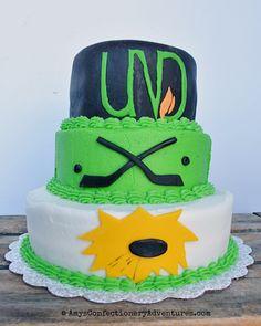 Amy's Confectionery Adventures: UND Hockey Cake