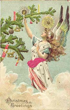 .love Vintage Christmas Angels!