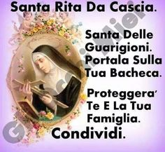 Giuseppe Di Gesù - Google+ Sainte Rita, Catholic Religion, Guardian Angels, Spiritual Inspiration, Madonna, Prayers, Faith, Thoughts, Feelings