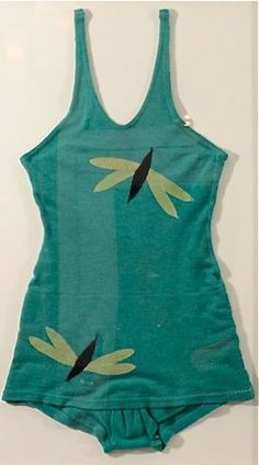Dragonfly bathing suit, wool, c1930s