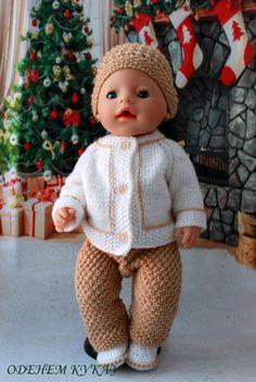 Татьяна Черномырдина Baby Born Clothes, Crochet Baby Clothes, Pet Clothes, Doll Clothes, Girl Dolls, Baby Dolls, Bear Doll, Doll Costume, Knitted Dolls