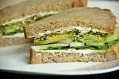 Cucumber-Avocado Tea Sandwiches (gluten-free option, contains dairy) - Vegetarian Gastronomy