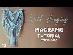 Diy Macrame Wall Hanging, Macrame Plant Hanger Patterns, Free Macrame Patterns, Macrame Design, Macrame Tutorial, Macrame Projects, Dreamcatchers, Videos, Creative