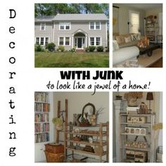 She must love junk Collectors Colonial style Home tour! - Debbiedoo's