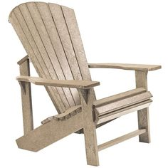 Universal Lighting and Decor Generations Tan Outdoor Adirondack Chair (2,435 CNY) ❤ liked on Polyvore featuring home, outdoors, patio furniture, outdoor chairs, outdoor seating, plastic garden chairs, outdoor adirondack chairs, recycled plastic patio furniture, outside patio furniture and plastic patio chairs