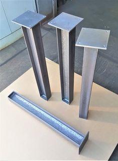 Heavy Structural I beam legs. Set of 4 legs. Welded Furniture, Diy Furniture Easy, Steel Furniture, Furniture Legs, Mesa Metal, Wood And Metal, Steel Table Legs, Steel Fabrication, I Beam