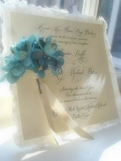 Bridal Bouquet In Cape Cod Blue