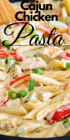 Cajun Chicken Pasta cajunfood This creamy cajun chicken pasta is loaded with juicy chicken tender peppers and a rich cajun Alfredo sauce A quick and easy meal perfect for weeknights chickenpasta pasta chicken pastarecipe lunch Rice Recipes For Dinner, Yummy Pasta Recipes, Chicken Pasta Recipes, Cajun Recipes, Vegetarian Recipes, Cooking Recipes, Creamy Cajun Chicken Pasta, Pasta Dishes With Chicken, Vegetarian Diets