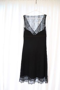 4885c17e45a7 Extra Off Coupon So Cheap Anthropologie Odille Little Black Lace Dress  Satin Lined Size 2 (Women s)