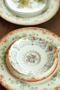 Mismatched China : Plates