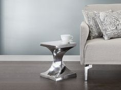 Nowoczesny stolik kawowy - stół - aluminium - ASMARA ✓ Kupuj bez ryzyka z odroczonym terminem płatności z gwarancją 365 dni na zwrot towaru